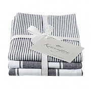 Kensington Black Stripe Tea Towel - 3 Pack