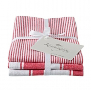 Kensington Red Stripe Tea Towel - 3 Pack