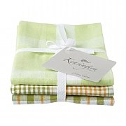 Kensington Green Stripe Tea Towel - 3 Pack