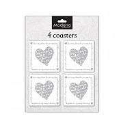 Modena Home Heart Coasters - Pack Of 4
