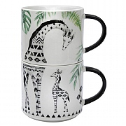 Pack of 2 Stacking Giraffe Mugs