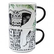 Pack of 2 Stacking Elephant Mugs