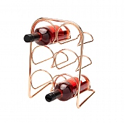 Hahn Pisa Copper 6 Bottle Wine Rack