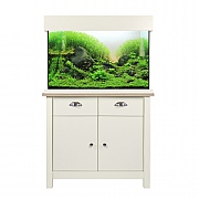 Aqua One Oak Style 145 Aquarium & Cabinet - Soft White