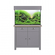 Aqua One Oak Style 145 Aquarium & Cabinet - Flint Grey