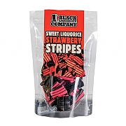Black Liquorice Company Strawberry Liquorice Stripes 165g
