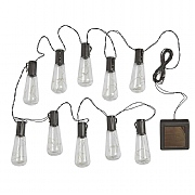 Smart Solar Eureka! Vintage Lightbulb String Lights - 10 Bulb