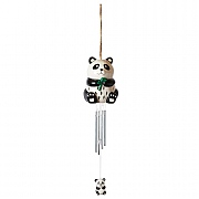 Smart Solar Ceramic Panda Windchime