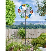 Smart Solar Harlequin Wind Spinner