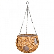 Smart Garden Déco Faux Rattan Hanging Ball - 9''
