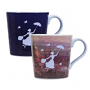 Mary Poppins London Heat Changing Tapered Mug