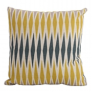 Bramblecrest Harlequin Yellow Square Scatter Cushion