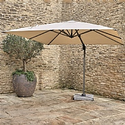 Bramblecrest Chichester 3m Square Sand Side Post Parasol with Base