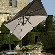 Bramblecrest Lichfield 2.7m Square Sand Side Post Parasol with Base