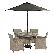 Supremo Genoa 4 Seater Round Set