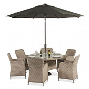 Supremo Genoa 6 Seater Round Set