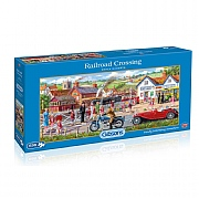Gibsons Railroad Crossing 636 Piece Jigsaw Puzzle