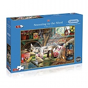 Gibsons Snoozing in the Shed 500XL Piece Jigsaw Puzzle