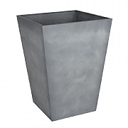 Beton Tall Square Planter Light Grey 55cm