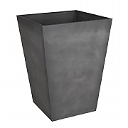Beton Tall Square Planter Dark Grey 55cm
