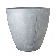 Beton Tall Round Planter Light Grey 40cm