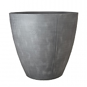 Beton Tall Round Planter Dark Grey 40cm
