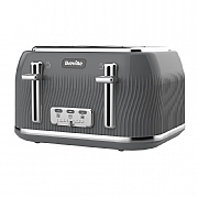 Breville VTT892 Flow 4-Slice Toaster - Grey