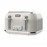 Breville VTT891 Flow 4-Slice Toaster - Cream