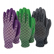 Town & Country Ladies Flexigrip Triple Pack Gardening Gloves