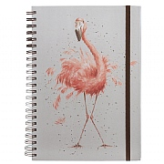 Wrendale 'Pretty in Pink' A4 Spiral Notebook