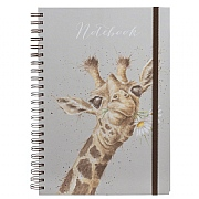 Wrendale 'Flowers' A4 Spiral Notebook