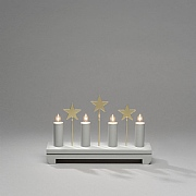 Konstsmide Grey Starry Candlestick Welcome Light