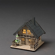 Konstsmide Alpine Grey Lodge Silhouette (Battery Operated)