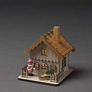 Konstsmide Alpine Sleigh Lodge Silhouette (Battery Operated)