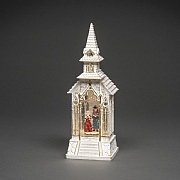 Konstsmide White Church Water Lantern (Battery Operated)
