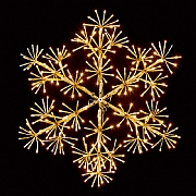 Premier 60cm Warm White LED Gold Snowflake (300 LEDs)