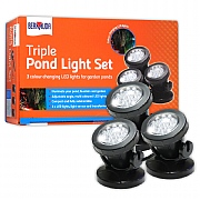 Bermuda LED Triple Pond Spotlight Set