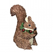 Gisela Graham Bristle Squirrel with Berry Wreath