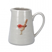 Gisela Graham Ceramic Mini Jug with Robin