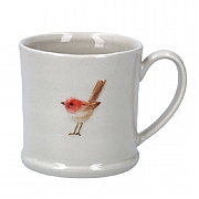 Gisela Graham Ceramic Mini Mug with Robin