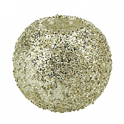 Gisela Graham Crushed Gold & Silver Glass Nite Lite Ball