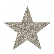 Gisela Graham Pale Silver & Gold Glitter Acrylic 5-Point Star