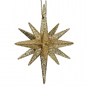 Gisela Graham Gold Glitter Bethlehem Star Decoration