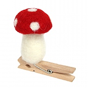Gisela Graham Wool Mix Toadstool On Peg