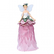 Gisela Graham Resin & Fabric Hellebore Tree Top Fairy Ornament (18cm)