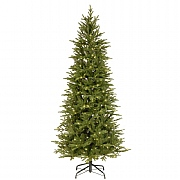6.5ft Pre-Lit Bedminster Slim Spruce Artificial Christmas Tree