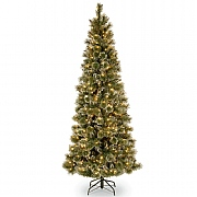 5ft Pre-Lit Glittery Bristle Pine Artificial Christmas Tree