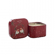 Wax Lyrical Holly Jolly Wax Filled Square Tin