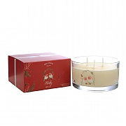 Wax Lyrical Holly Jolly Multi Wick Glass Candle