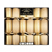 "Gold Scatter 13.5"" Deluxe Christmas Crackers (Pack of 6)"